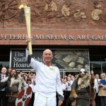 Stoke City manager Tony Pulis Olympic torch