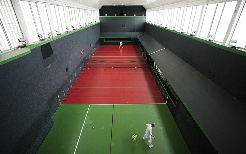 A match in progress in the Royal Tennis Court
