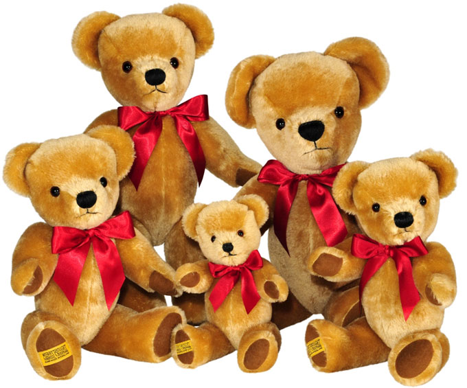 Iconic Merrythought 'London Gold' teddy bears