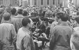 78thFG_T'bolt-Band_Parade-Gr'nd_VE-Day-P'ty_8.5.45