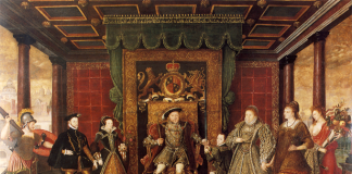 King Henry VIII and his Tudor family