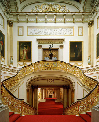 The Grand Staircase, Buckingham Palace. Inside Buckingham Palace, London