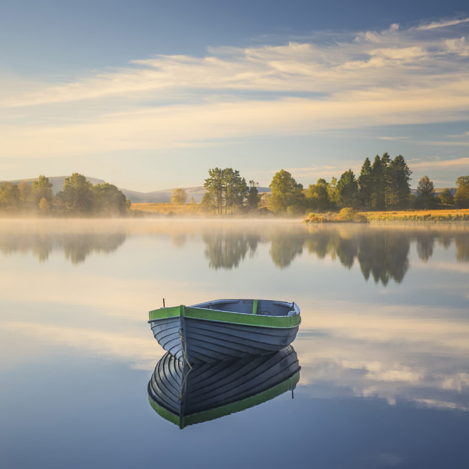 Autumn Morning Light, Loch Rusky, Perthshire, Scotland