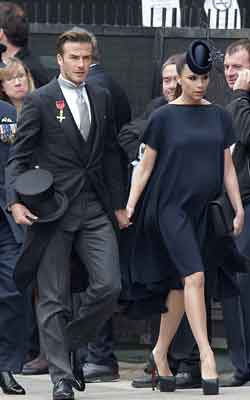 The Beckhams attended the Royal Wedding