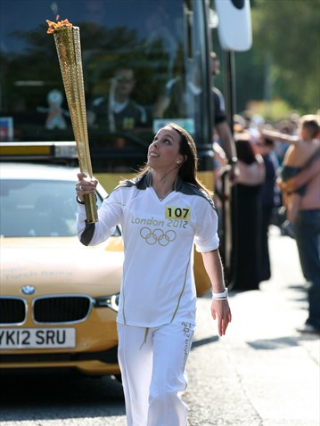 Beth Tweddle Olympic Flame Chester