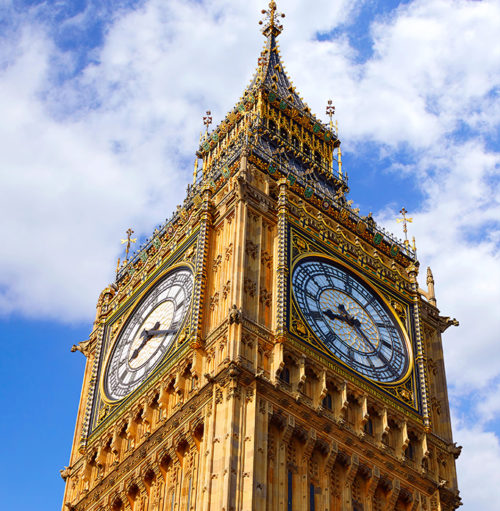 Big Ben Clock Tower in London at England. When was big ben built?