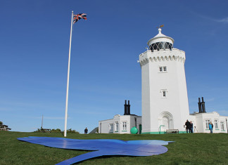 Bluebirds at the White Cliffs of Dover to mark the 100th birthday of Dame Vera Lynn