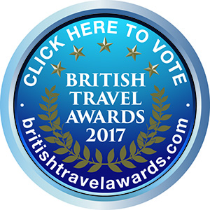British Travel Awards voting button | Vote for BRITAIN in the British Travel Awards