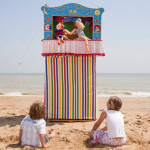 A traditional Punch and Judy show at Broadstairs Beach