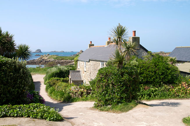 Bryher, Isles of Scilly, south west Britain, rural cottage exterior British islands