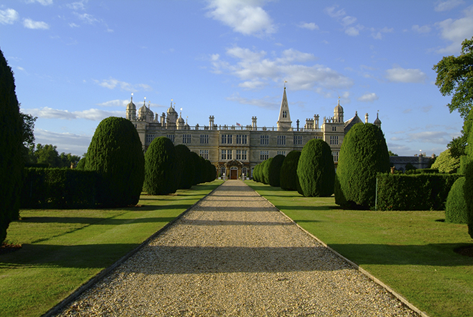 Capability Brown designed the formal gardens and surrounding parkland at Burghley House, Lincolnshire. Credit: VisitBritain/Tony Pleavin