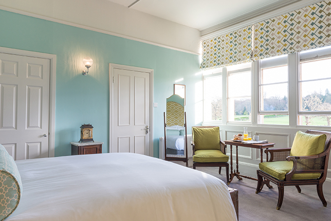 Bedroom at Burley manor, the New Forest, Hampshire. Photo courtesy of Burley Manor