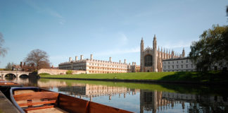 King's College and punting in Cambridge