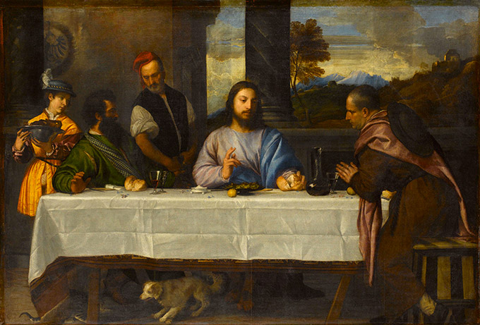 Titian, 'The Supper at Emmaus', c.1530
