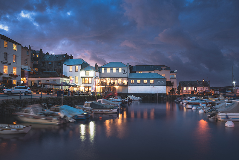 The historic harbour of Falmouth