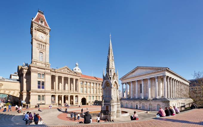 BMAG and the Town Hall in Chamberlain Square © eye35.pix/Alamy