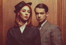 Catherine Steadman as Romaine and Jack McMullen as Leonard