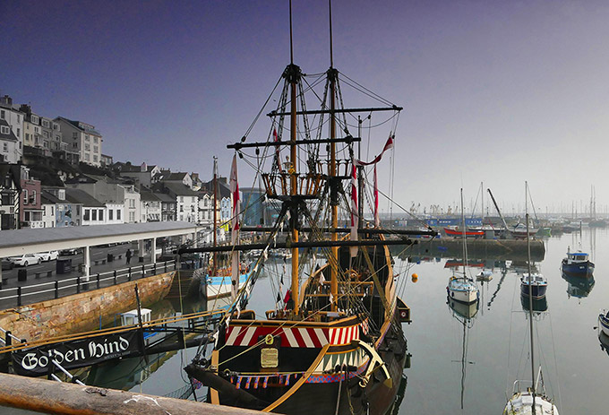 The replica Golden Hind in Brixham, Devon