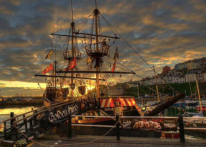 Sir Francis Drake's Tudor galleon Golden Hind