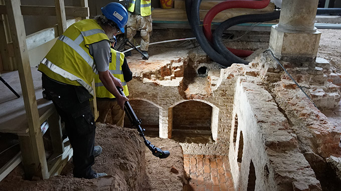 Greenwich Palace discovered at Old Royal Naval College