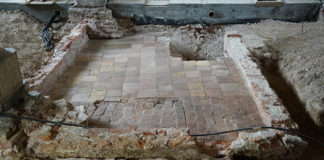 Remains of Greenwich Palace found during renovations of the Painted Hall