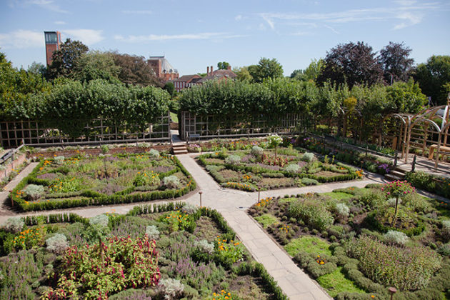 New Place: The Knot Garden on the site where Shakespeare lived