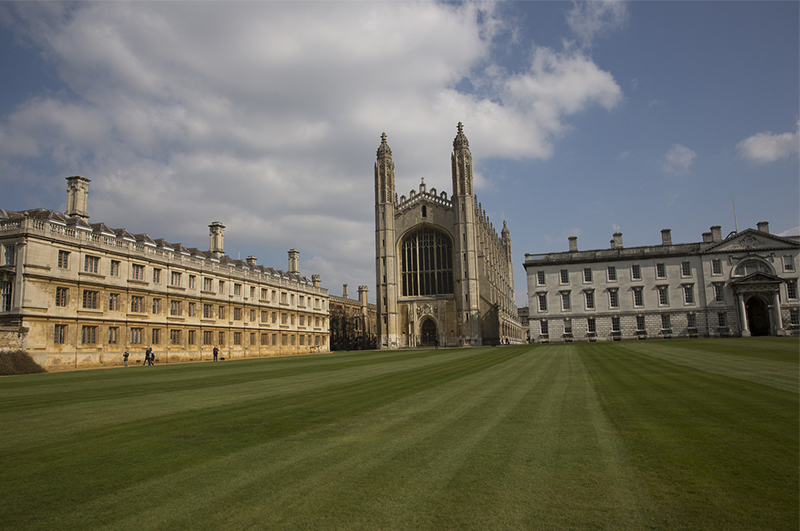 The courtyard in Cambridge University, surrounded by colleges. Credit: Visit Britain