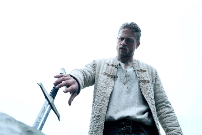 Charlie Hunnam in King Arthur: Legend of the Sword. Credit: Visit Britain