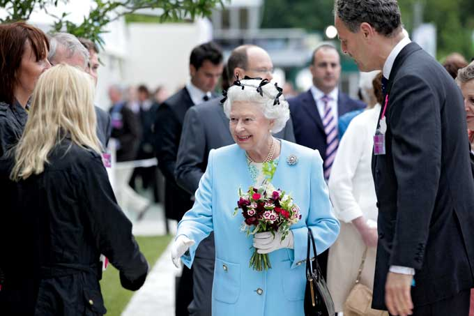 The Queen at the Chelsea Flower Show in 2011