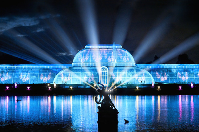 Christmas at Kew light show. Credit: RGB