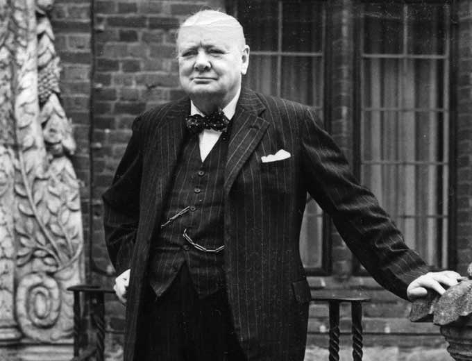 Churchill outside Chartwell. Credit: TopFoto.co.uk