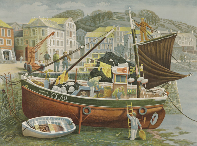 Cornish-Pilchard-Boat,-c-1953-55-David-Gentleman