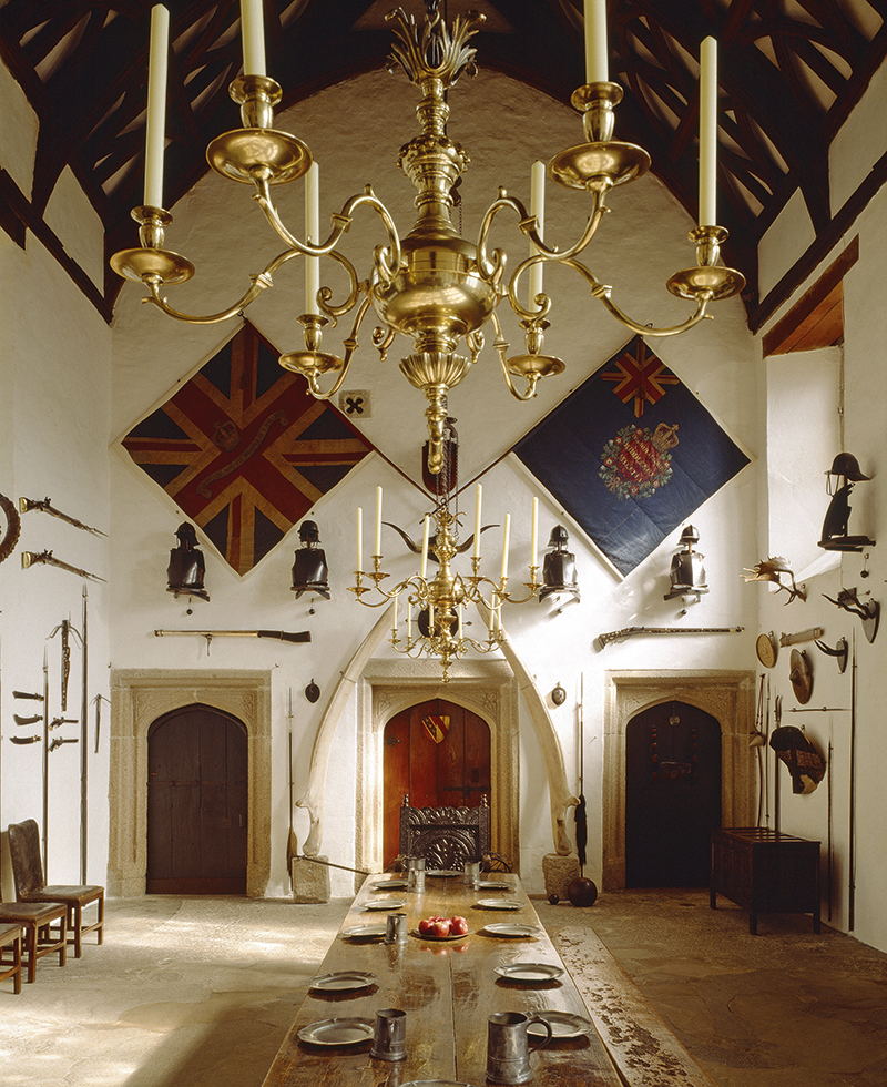 The hall at Cotehele