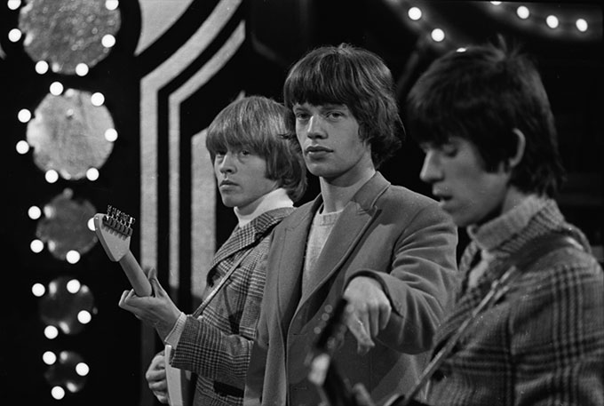 David-Farrell,-Mick-Jagger-and-Brian-Jones,-c.1963.-©-David-Farrell,-courtesy-of-Osborne-Samuel
