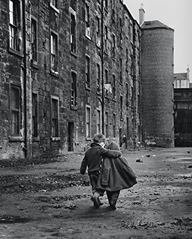 An Eye on the Street, Glasgow 1968 (Comforting Arm), by David Peat. Modern silver gelatine print (2013) printed by Robert Burns. When We Were Young. Photos of childhood from the National Galleries of Scotland