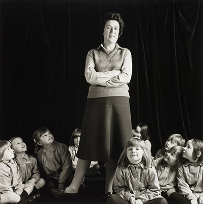 Primary School Teacher, from 'Pictures from No Man's Land', 1984, by David Williams. When We Were Young exhibition, National Galleries of Scotland
