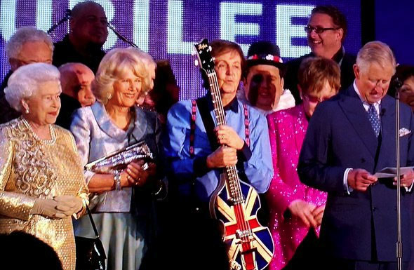Diamond Jubilee Concert The Queen Prince Charles