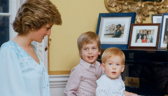 Diana, our Mother: Her Life and Legacy – Princess Diana with a young Prince William and Prince Harry. Screenshot from documentary. Not for reuse