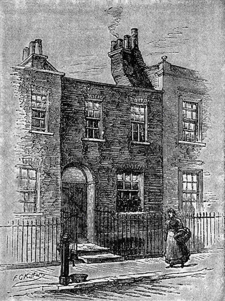 Charles Dickens' house in Bayham Street, London
