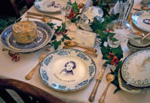 Christmas Charles Dickens plates
