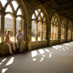 The famous cloisters of Durham Cathedral, as seen in the first two Harry Potter movies