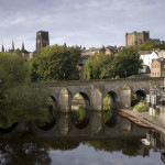 Durham Cathedral overlooking the calm waters of the river