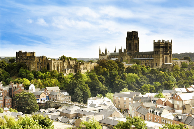 Durham Castle and Cathedral. Credit: Durham Castle and Cathedral, Unesco World Heritage Site, Durham City, Summer skyline VisitEngland/Visit County Durham