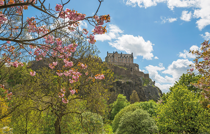 Edinburgh Castle from Princes Street Gardens