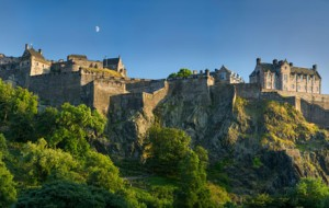 Early evening over Edinburgh Castle, Scotland