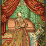 Queen Elizabeth I at prayer, after the frontispiece to Christian Prayers, 1569