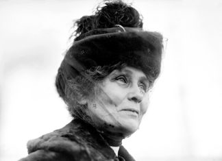 Emmeline Pankhurst, portrait of the leader of the British suffragette movement, May 1912. Greatest women in British history