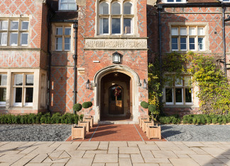 Entrance to Burley Manor, the New Forest, Hampshire. Credit: Burley Manor Hotel