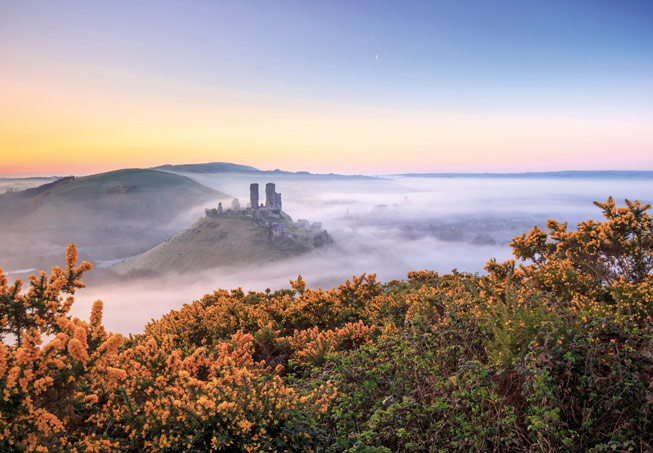 Corfe Castle, Dorset. Credit: Loop Images Ltd/Alamy