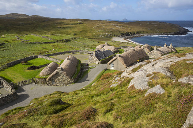 Gearrannan Blackhouse Village, Isle of Lewis, Scotland, Outer Hebrides. Beautiful photos of Lewis and Harris